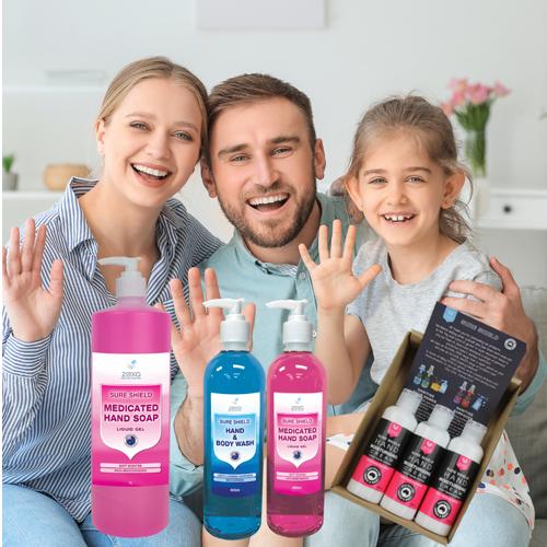 Zexa Hand and Body Wash pack with lemon hand cream