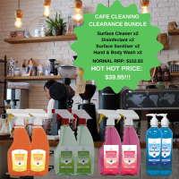 Clean sanitise disinfect wash products