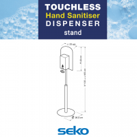 Seko Sanitiser Dispenser stand spec